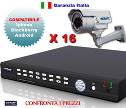 Kit Videosorveglianza 16 canali con 16 Telecamere varifocali HR Sony 2.8-12 mm