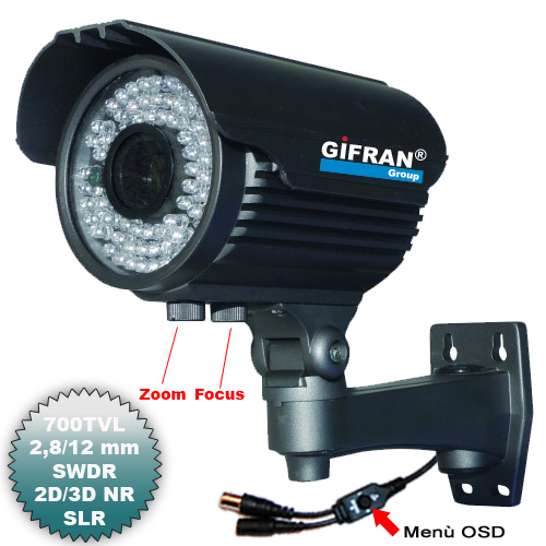 Telecamera Videosorveglianza SWDR, 700 TVL 72 led infrarossi