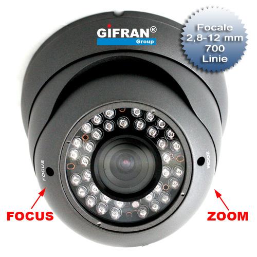 Telecamera Videosorveglianza 700 TVL zoom 2.8-12mm